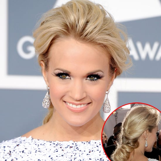 Carrie Underwood S Hair And Makeup Look At The 2012 Grammy