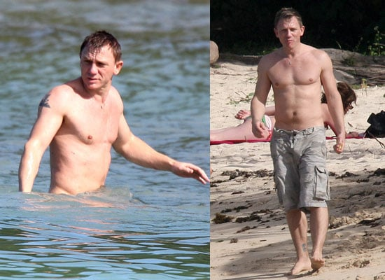 Photos of Shirtless Daniel Craig on Holiday in the Caribbean with Satsuki Mitchell in a Bikini