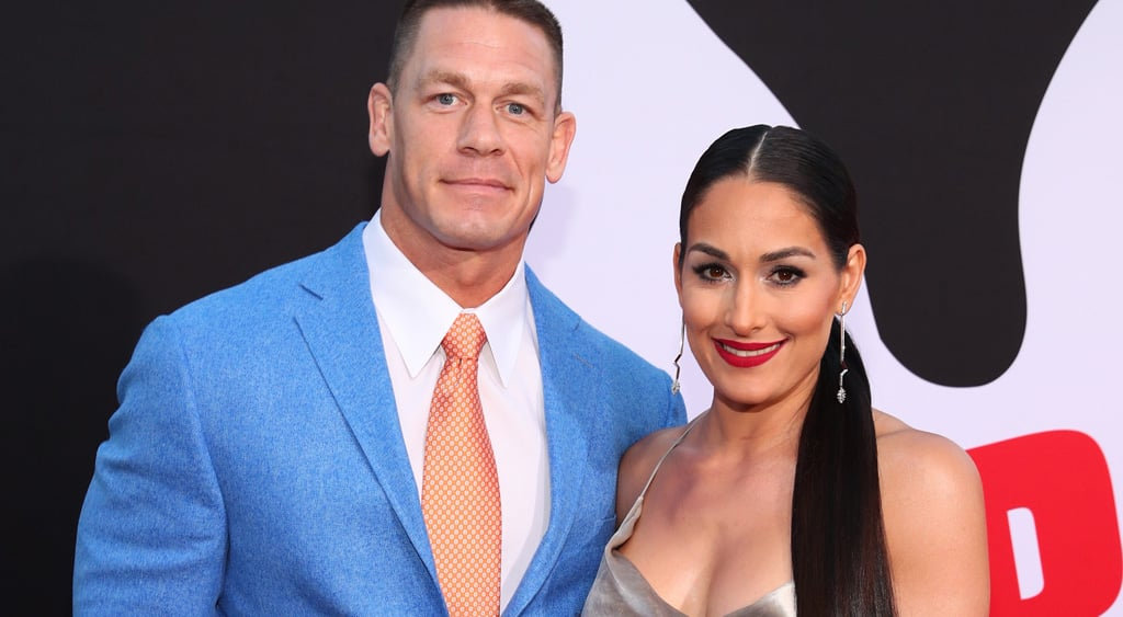 WESTWOOD, CA - APRIL 03:  John Cena (L) and Nikki Bella attend the premiere of Universal Pictures'