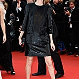 Sofia Coppola hit the red carpet for The Bling Ring in a Louis Vuitton shift and ankle-strap sandals.