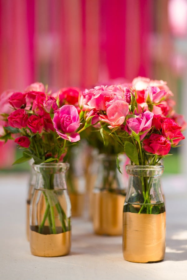 Diy Gold Painted Vases Easy Party Diys Popsugar Home Photo 8
