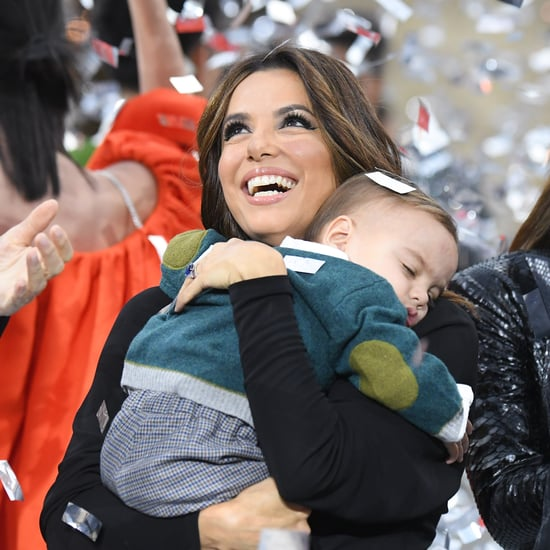 Eva Longoria Brought Her Son Santiago to Paris Fashion Week