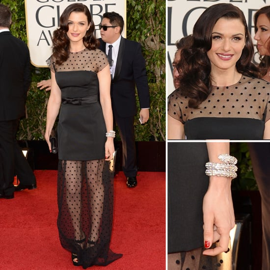 Rachel Weisz in Sheer Louis Vuitton at 2013 Golden Globes