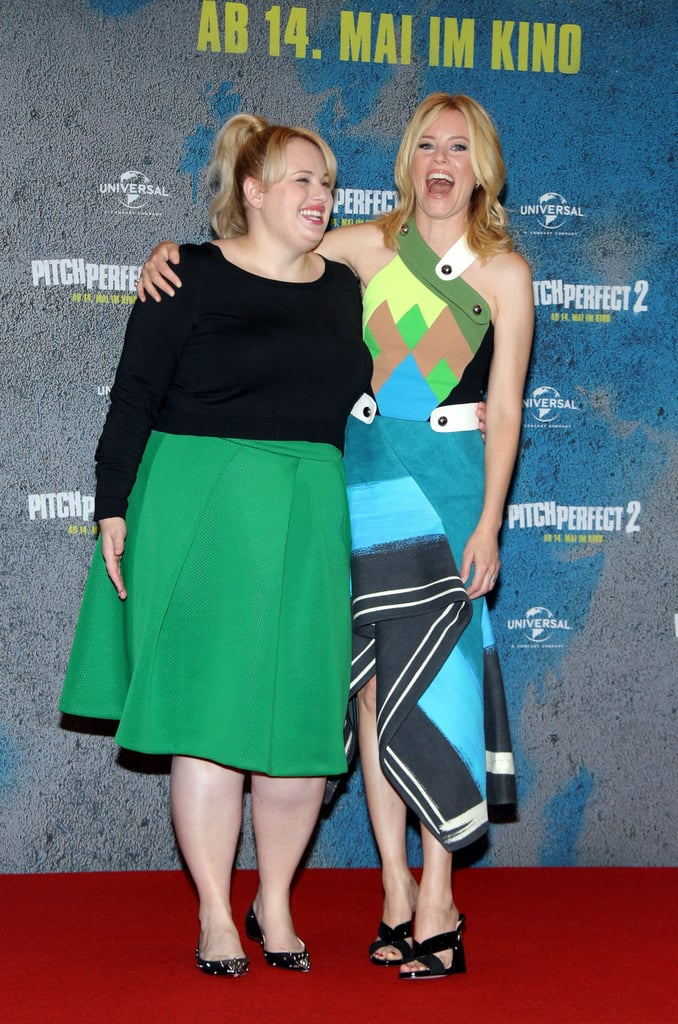 Rebel Wilson and Elizabeth Banks Pitch Perfect Photocall