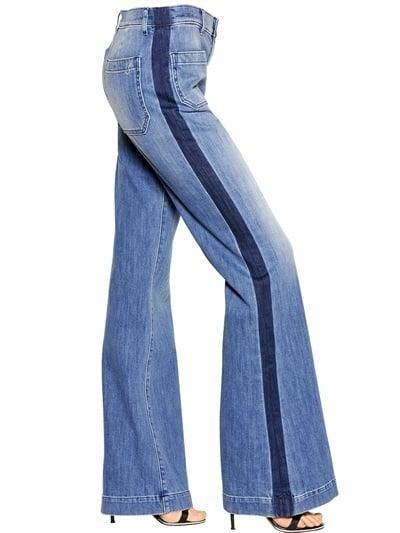 Seafarer Tuxedo Stripe Flare Jeans ($334)
