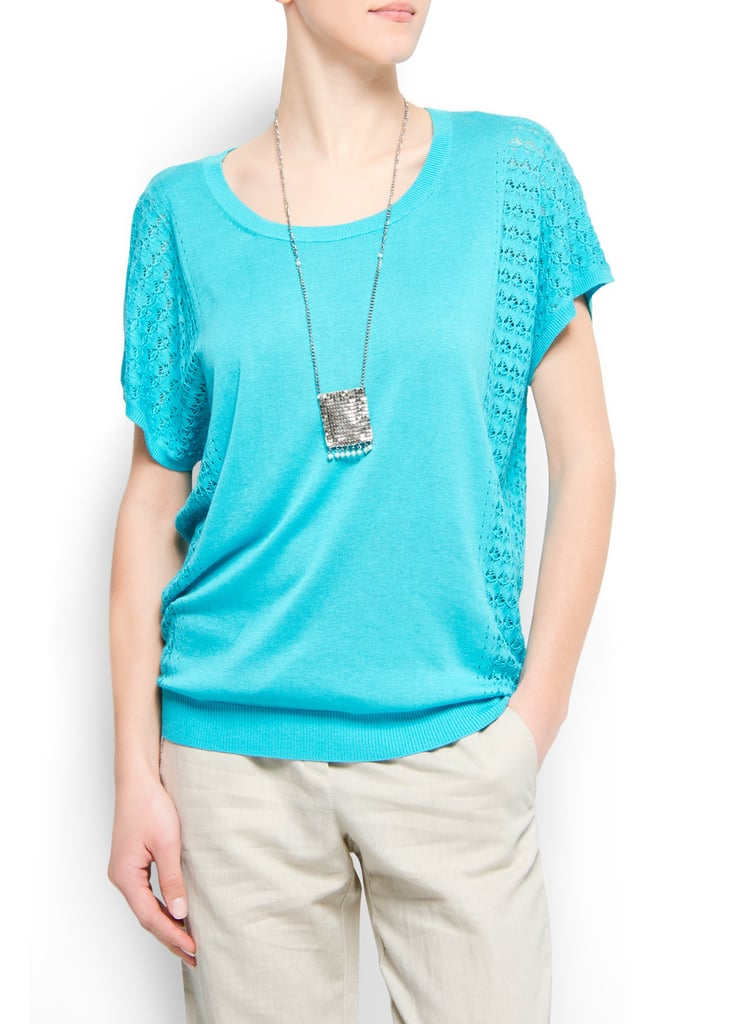 The bright blue hue of this sweet sweater will look great on any skin tone.  Mango Crochet Detail Jumper ($60)