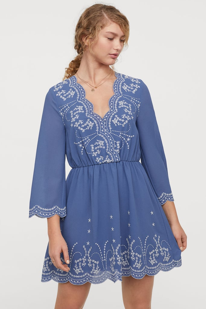 H&M Dress With Embroidery