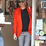 Gwen Stefani smiled while out in LA.