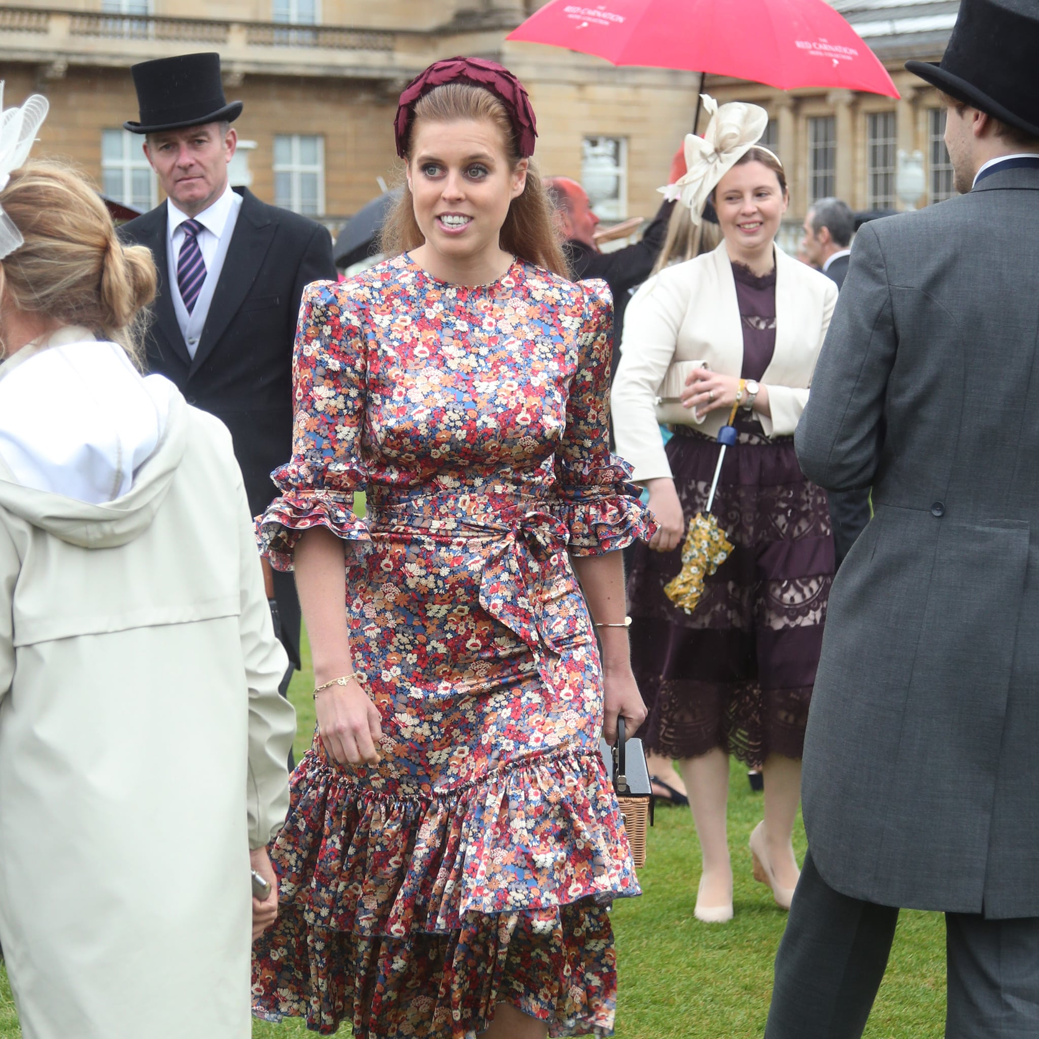 Princess Beatrice Floral Dress At Queen Garden Party 2019