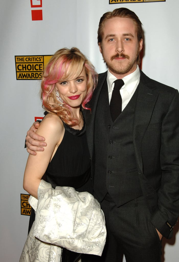 Then-couple Rachel McAdams and Ryan Gosling cozied up on the red carpet in 2007.