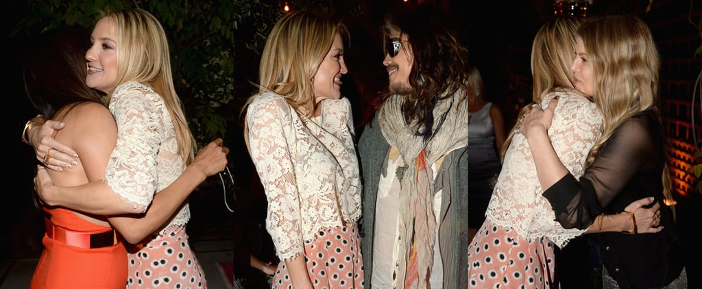 Kate Hudson Hugs It Out With Her Famous Friends