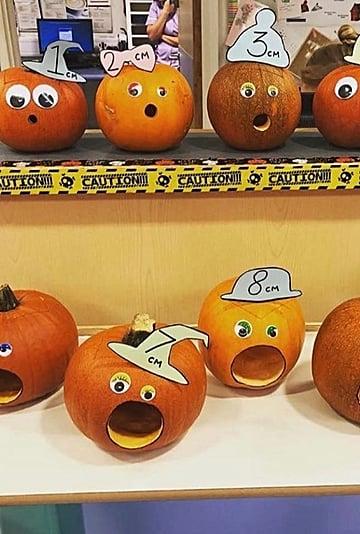 Cervix Dilation Pumpkin Display