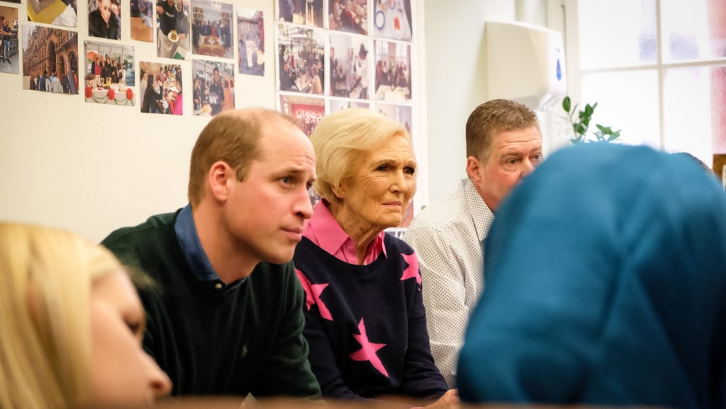 Prince William and Mary Berry at The Passage, London