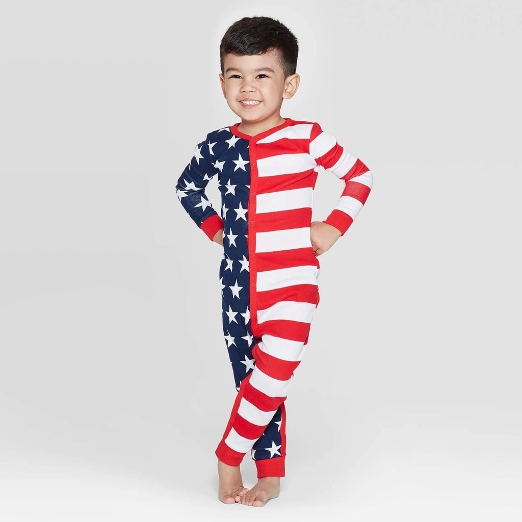 Snooze Button Toddler Stars and Stripes Family Pajama Union Suit