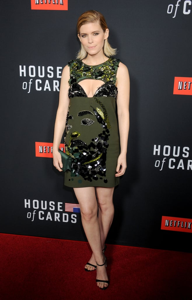 On Thursday, Kate Mara wore a green frock at the LA premiere of House of Cards.