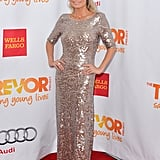 Kristin Chenoweth sparkled in a floor-length BCBG Max Azria gown, and from the back, you could see that she also went for a jaw-dropping backless effect.