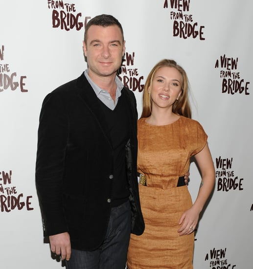 Scarlett Johansson and Liev Schreiber at the ''A view from the bridge'' cast meet and greet