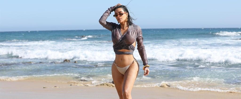 Kim Kardashian Hits the Beach in a Bikini in Malibu