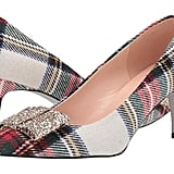 J.Crew Plaid With Glitter Bow Colette Pump