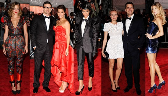 Photos Madonna, Kate Moss, Blake Lively, Jessica Alba, Jessica Biel at the 2009 Met Institute Costume Gala Red Carpet