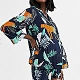 ASOS Design Maternity Botanical Tiger Pyjamas