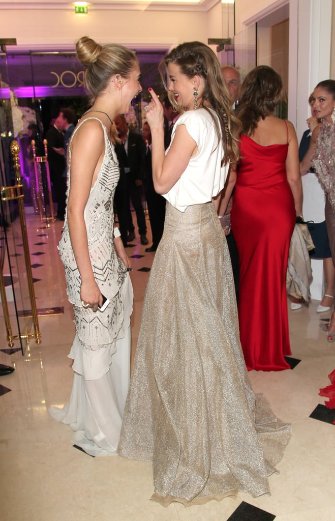 "The Cannes Film Festival is always a star-studded affair, and this week has been filled with plenty of celebrities out and about in France. At the Fatale in Cannes party on Tuesday, many celeb pals partied together, including Cara Delevingne and Amber Heard, who barely left each other's sides. Before jetting off to France, Amber visited her fiancé, Johnny Depp, on set in Boston, and Toni Garrn also let loose without boyfriend Leonardo DiCaprio by her side. Perhaps that means she was actually the ""mystery blonde"" clubbing with Leo on Monday."