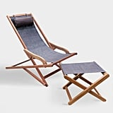 Dark Brown Lanai Sling Outdoor Seating Collection
