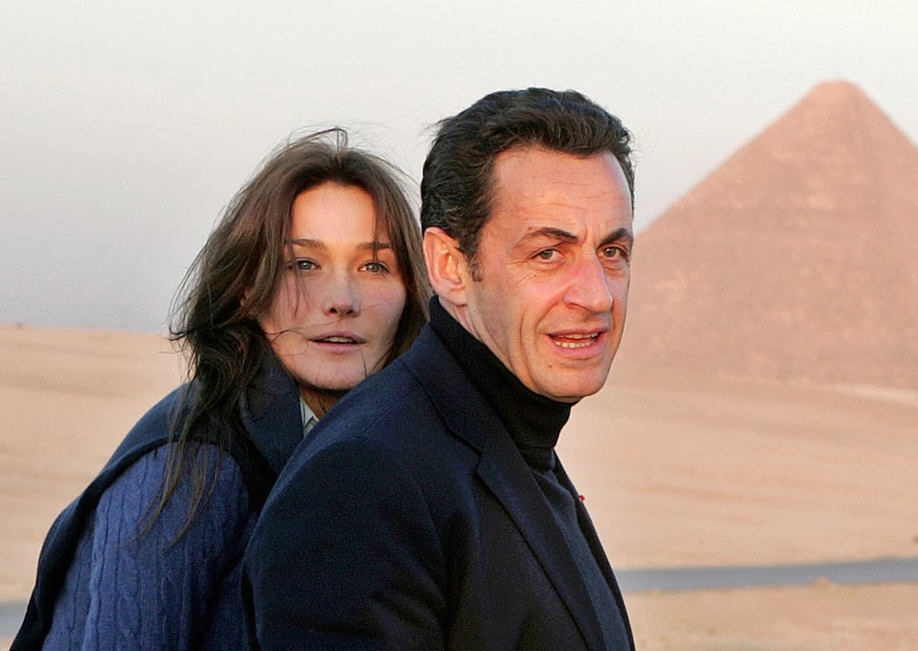 In Dec. 2007, Sarkozy brought his girlfriend Carla Bruni along for a trip to Cairo.