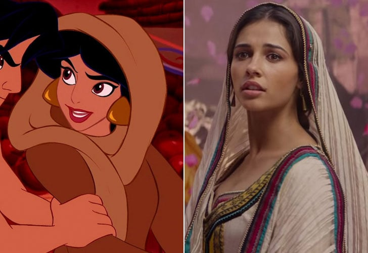 Naomi Scott As Princess Jasmine Again Only She S Undercover This Time See What The Live Action Aladdin Actors Look Like Next To Their Cartoon Counterparts Popsugar Entertainment Photo 4