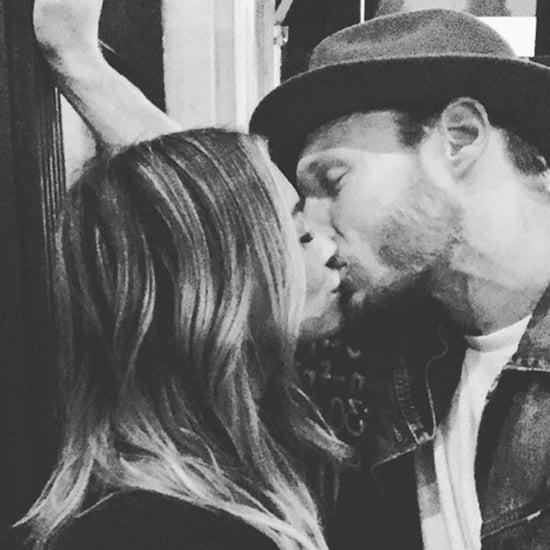 Hilary Duff Kissing Boyfriend Instagram Photo October 2016