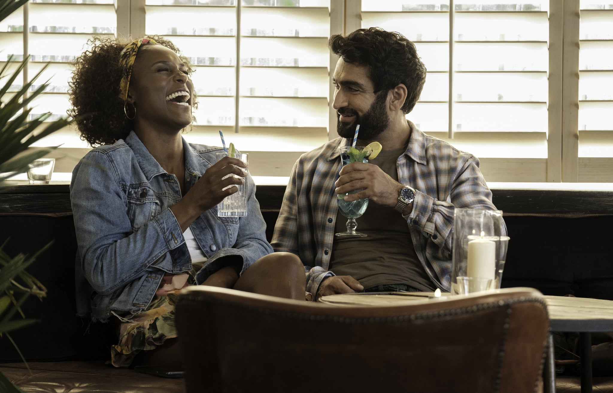 Issa Rae as Leilani, Kumail Nanjiana as Jibran of