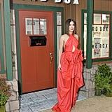 Sandra Bullock Red Dress at Bird Box Screening 2018