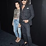 Zoë and Lenny Kravitz's Outfits at Saint Laurent Show