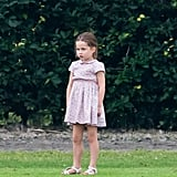 Princess Charlotte completely stole Princes William and Harry's thunder with her cute outfit at a charity polo match in 2019.
