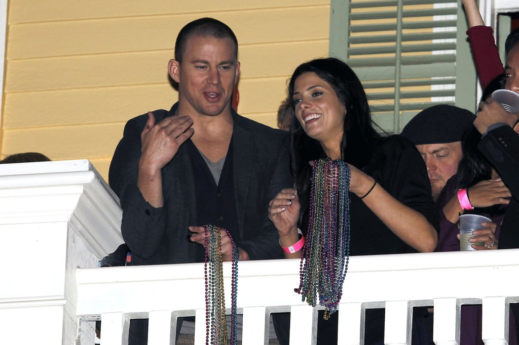 Channing Tatum and Ashley Greene partied Mardi Gras style in New Orleans in February 2013 during Super Bowl weekend.
