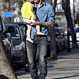 Harper Beckham shared a sweet kiss with her dad, David Beckham, during a sunny father-daughter stroll in London.