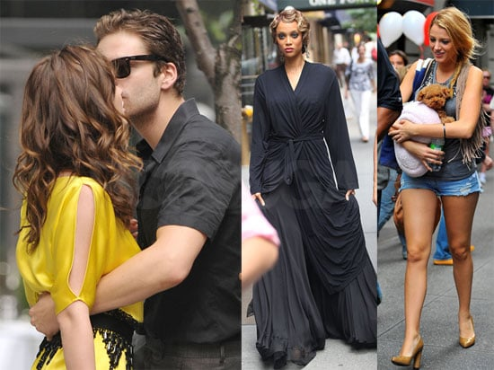 Photos of Hilary Duff, Blake Lively, Leighton Meester Kissing Sebastian Stan, Ed Westwick Filming Gossip Girl in NYC