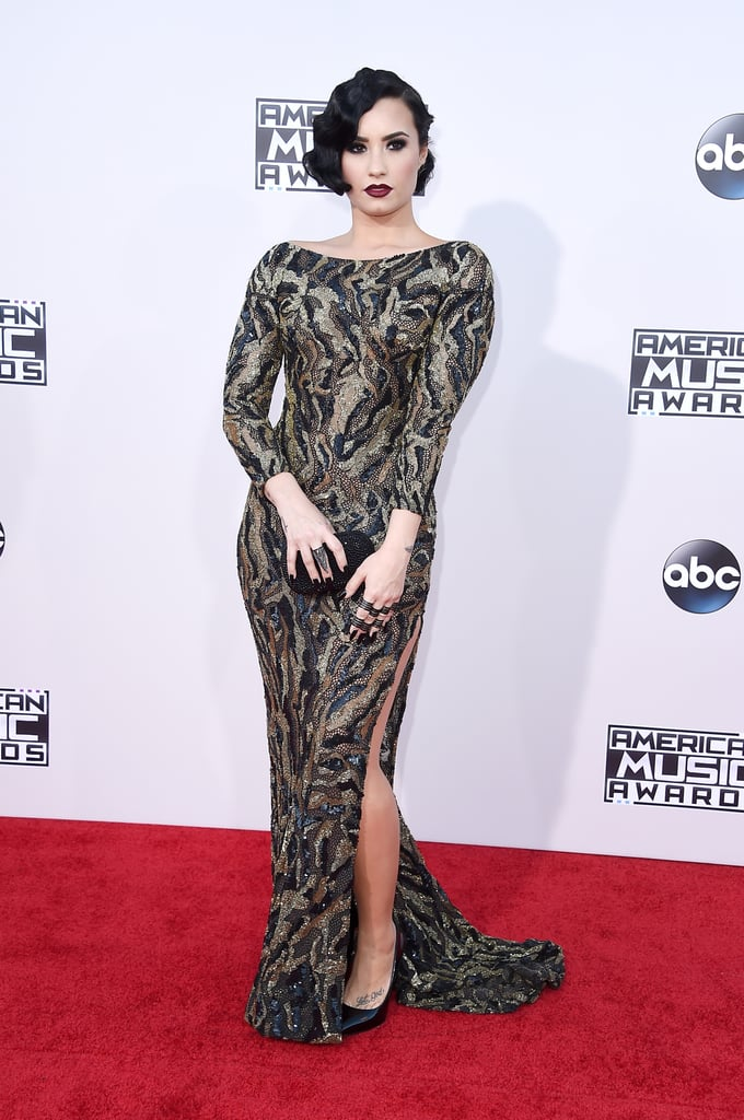 Demi Lovato on the 2015 American Music Awards Red Carpet ...