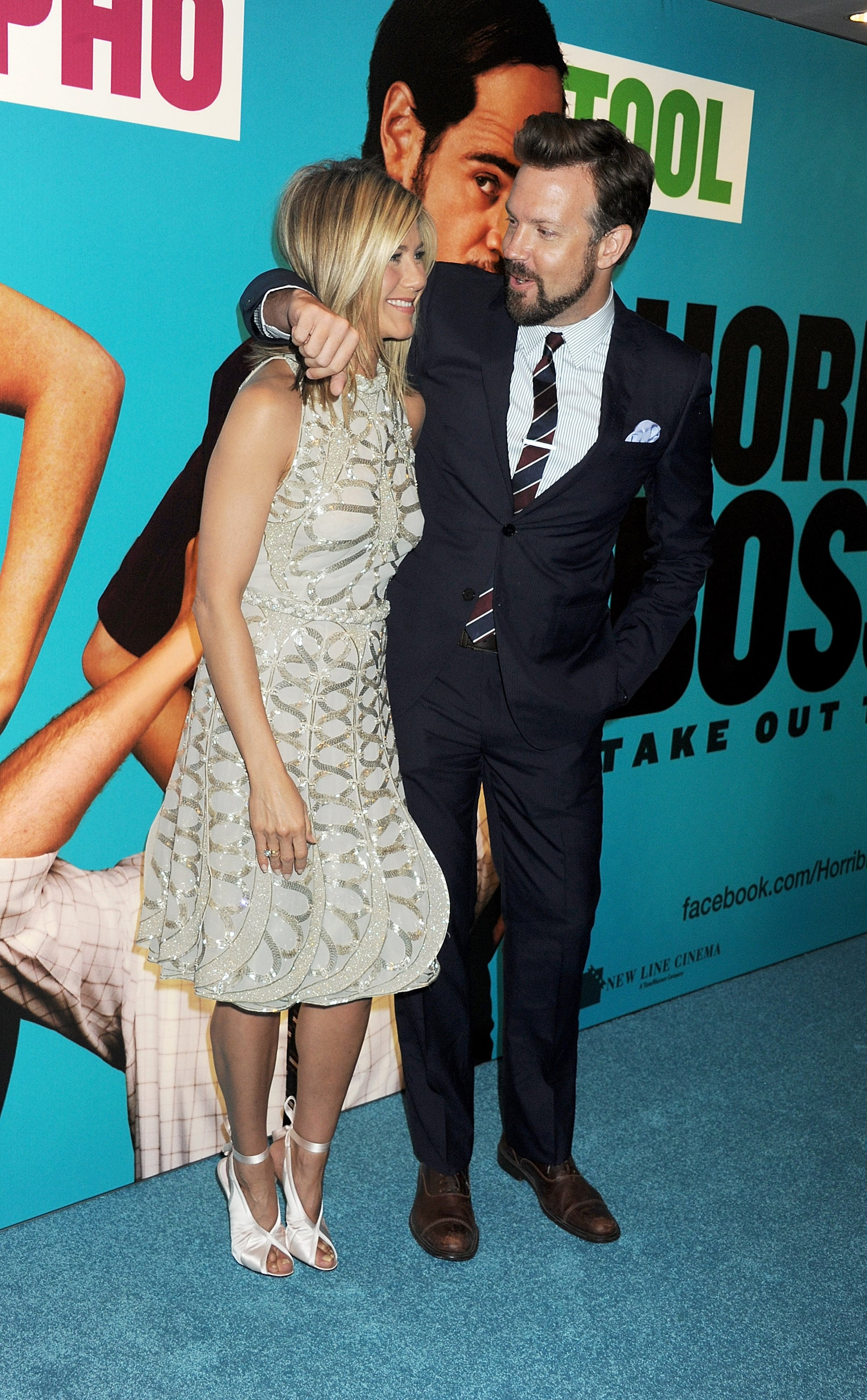 Jennifer Aniston and Jason Sudeikis together.