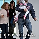 Ben Affleck sported his Boston Red Sox gear while out with Jennifer Garner and Violet Affleck in November 2009.