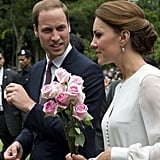 The royal couple made a cute pair as they walked together on their visit of a Malaysian mosque on day four of their tour.