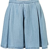 After spotting Katie Holmes and Eva Mendes in cute denim skirts, we thought it was about time to take this summery trend on ourselves. This light-washed iteration has a playful circle skirt shape that will look great with a gingham top. Moto Premium Tencel Skirt ($68)