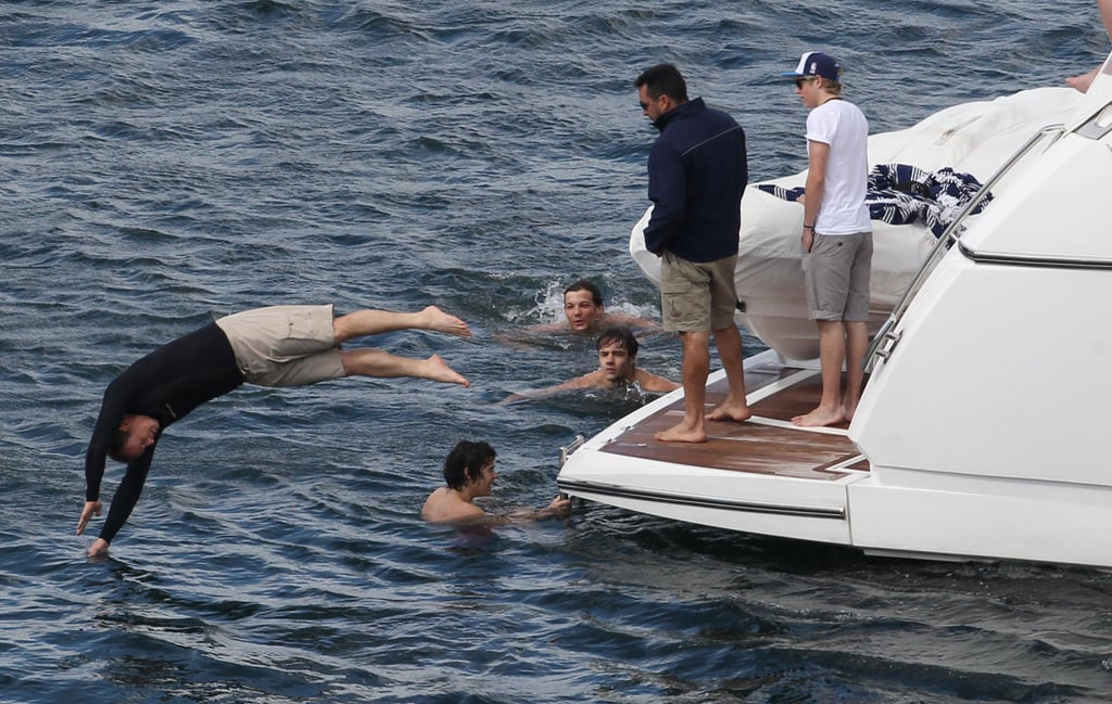 One Direction members took to the seas on a trip to Australia.