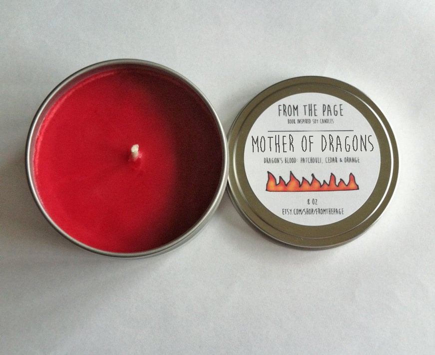 Mother of Dragons candle ($11) with cedarwood, orange, and patchouli notes