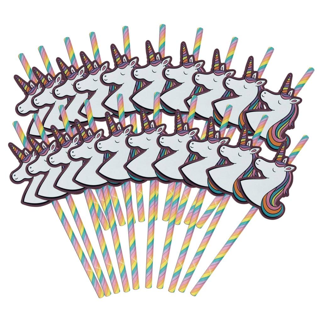 Unicorn Straws 20 Count ($3)