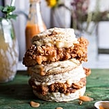 Buttermilk Chicken Biscuit With Habanero Peach Hot Sauce and Honey Butter