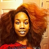 This natural girl's hair is big, bold, and beautiful. Source: Instagram user trialsntresses
