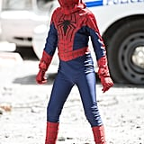 Jorge Vegas put on his little Spider-Man suit in NYC on Sunday.