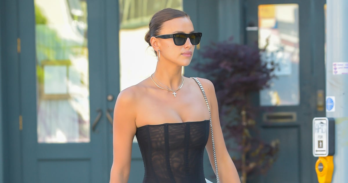 Irina Shayk's Latest Street Style Might Make You Rethink Your Stance on Low-Rise Jeans