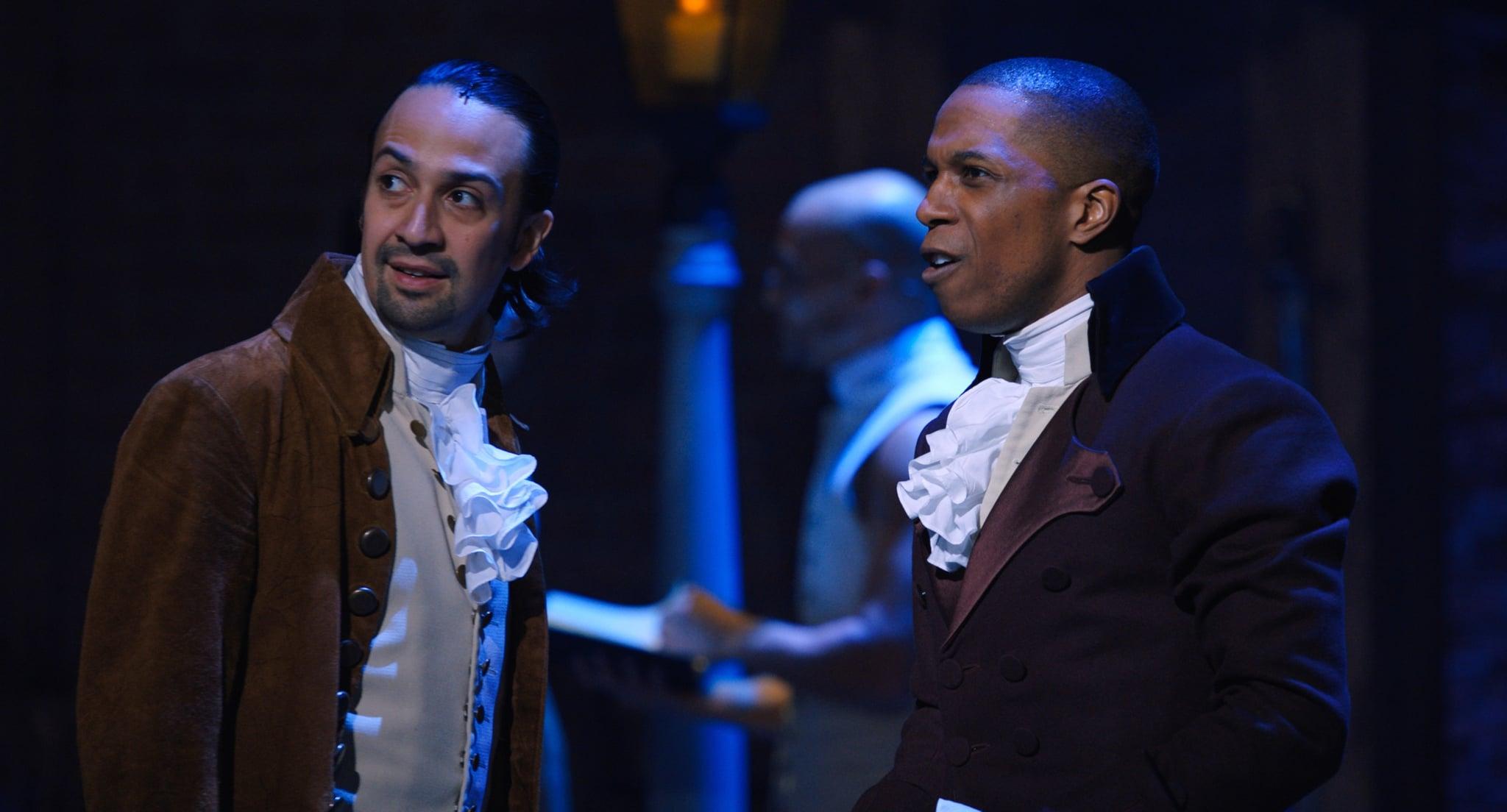 HAMILTON, from left: Lin-Manuel Miranda as Alexander Hamilton, Leslie Odom Jr. as Aaron Burr, 2020.  Disney+ / Courtesy Everett Collection